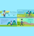 post service cartoon web banners set vector image vector image