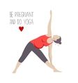 Pregnant doing Yoga Trikonasana or trialgle pose vector image vector image