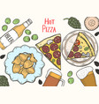 pub food frame vector image vector image
