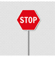 red stop sign isolated transparent background vector image