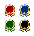 ribbon award best price labels set gold ribbon vector image vector image