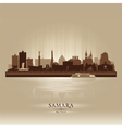 Samara Russia skyline city silhouette vector image vector image