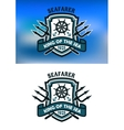 Seafarer marine banner vector image vector image