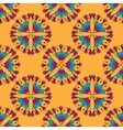 Seamless pattern with Indian stylization lotus vector image