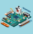 semiconductor electronic components seaport vector image vector image