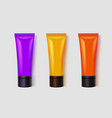 set colorful tubes acrylic painting or vector image
