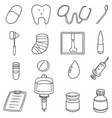 set of healthcare icon vector image vector image
