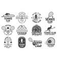 set tennis club badges vector image vector image