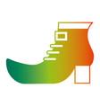 shoe boot accessory of leprechaun vector image