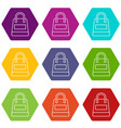 shopping bag icons set 9 vector image vector image