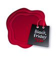 shopping bag with black friday lettering vector image vector image