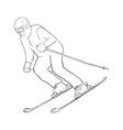 skiing man vector image