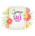 spring sale banner hand drawn lettering vector image vector image
