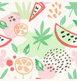 summer seamless pattern with watermelon vector image vector image