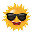 sun with sunglasses vector image vector image