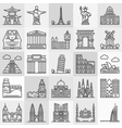 Travel landmarks icons vector image