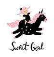 unicorn girl vector image
