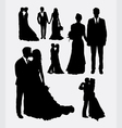 Wedding male and female in love silhouettes