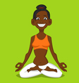 woman meditating vector image vector image
