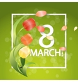 Women day Typographical Background With Spring vector image vector image