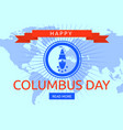 world columbus day concept background flat style vector image vector image