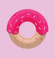 donut in sweet pink glaze vector image