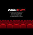 empty movie theater auditorium with red seats vector image