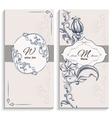 Set floral ornament wine list and menu vector image