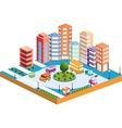 3D city3 vector image vector image