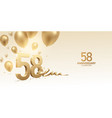 58th anniversary celebration background vector image vector image