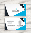 abstract modern business card vector image vector image