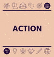 action button vector image vector image