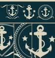 Anchors vintage set vector image vector image