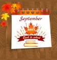 back to school calendar sale background vector image vector image