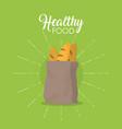 bakery healthy food vector image vector image