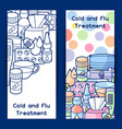 banners with medicines and medical objects vector image vector image