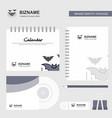 bat logo calendar template cd cover diary and usb vector image vector image