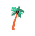 beautiful palm tree summer travel symbol vector image