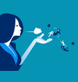 blown away manager dismiss employees concept vector image