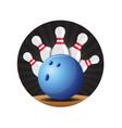bowling badge vector image