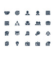 business and people icon set in glyph style with vector image