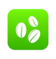 coffee beans icon digital green vector image