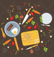 cooking poster design vector image vector image