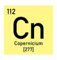 copernicium chemical symbol vector image vector image