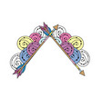 cute arrows element with ornamental design vector image vector image