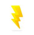 electric lightning bolt vector image