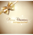 Elegant Christmas background with golden bow
