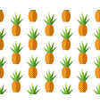 endless tropical pattern with flat pineapples vector image vector image