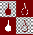 enema sign bordo and white icons and line vector image vector image
