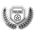 figure badge police signal icon vector image vector image